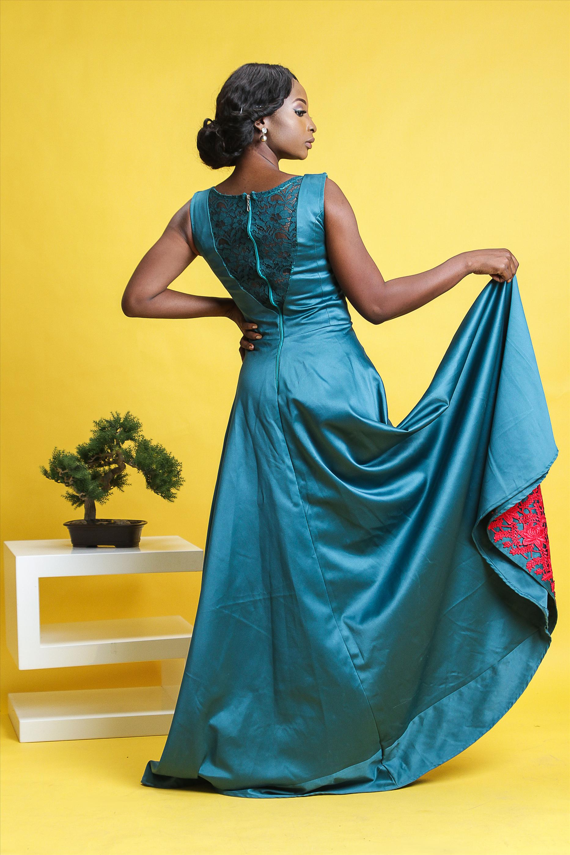 African inspired female gown, jacket, trouser and shirt |